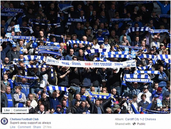 FAIL! Chelsea Facebook page believe Cardiff fans is Chelsea fans