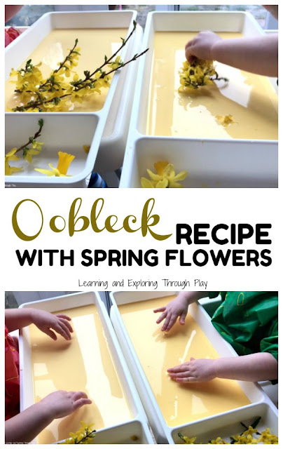 Spring Flower Oobleck Recipe Activities for Preschool