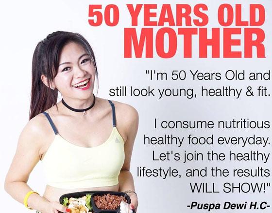 Foto Puspa Dewi, Wanita 50 Tahun Yang Jadi Viral Karena Tetap Awet Muda