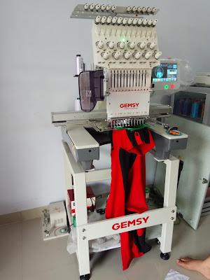mesin bordir komputer satu kepala Gemsy CJ 1201A di kupang nusa tenggara timur