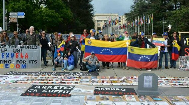 Venezolanos manifestaron en Ginebra rechazando la represión