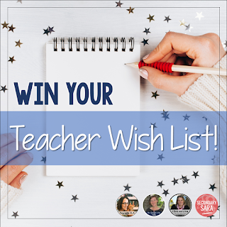 Win Your Teacher Wish List of Classroom Supplies or Resources From Four Marvelous Middle School Teachers!  #holiday  #Christmas  #FavoriteThings