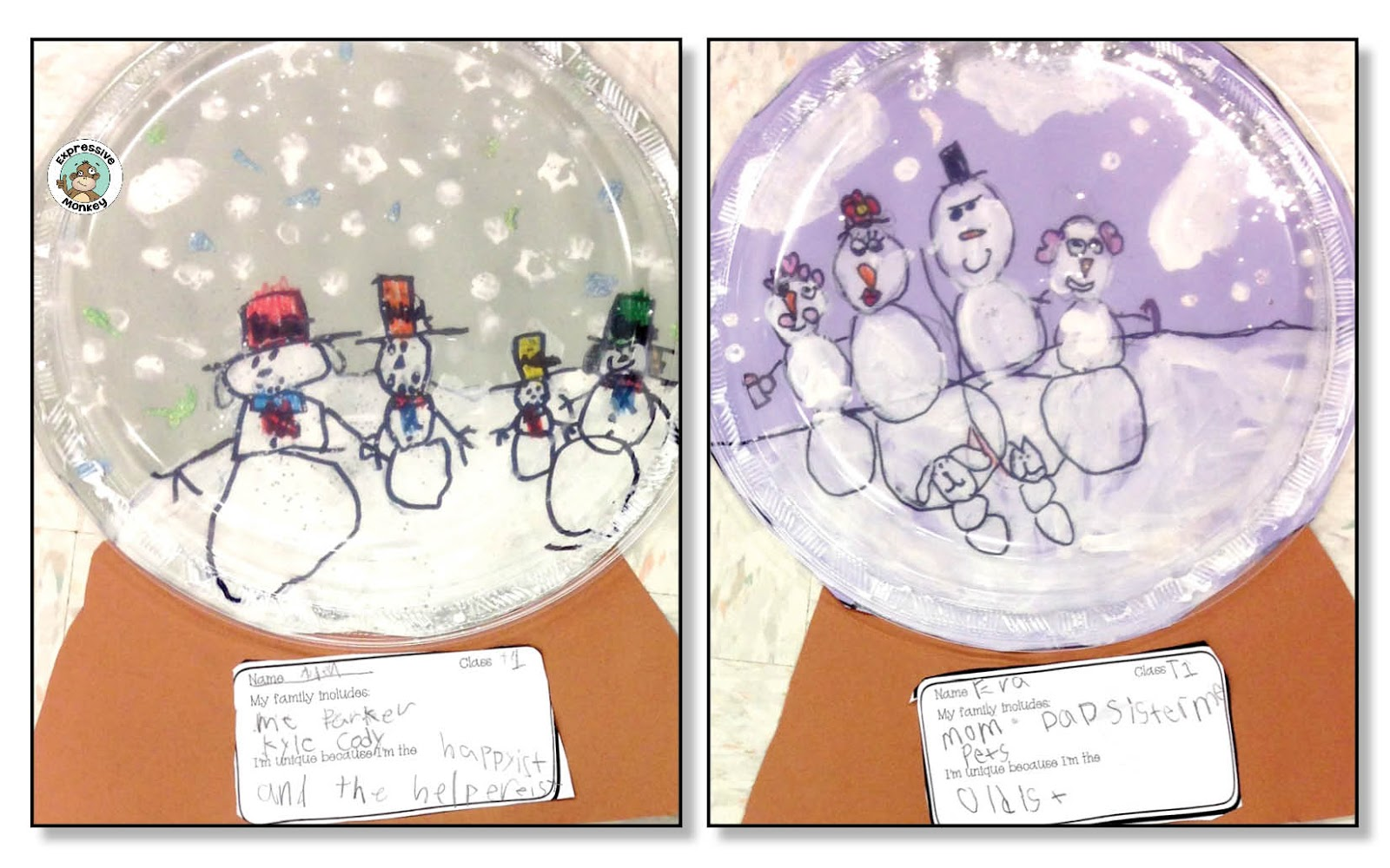 Snowman Family Snow Globes Lesson Here Are Some More Student Examples Id