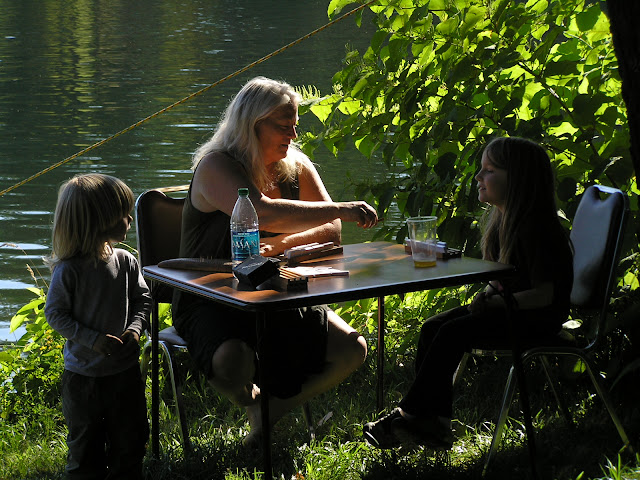 dominoes on the lake