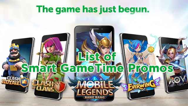 List of Smart GameTime Promos, Play Mobile Legends, AoV and