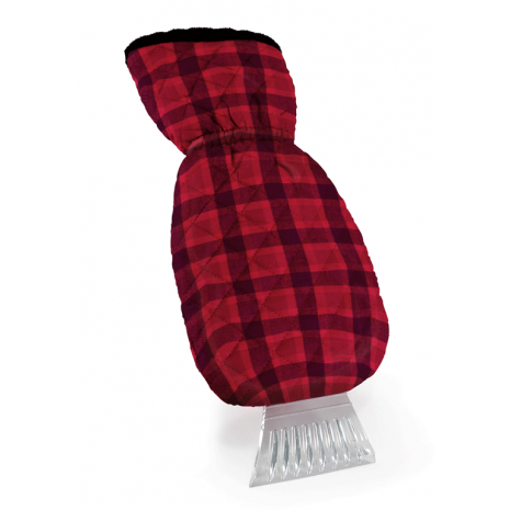 Buffalo Plaid Ice Scraper Mitten