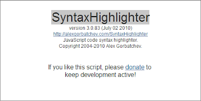 Adding SyntaxHighlighter to Blogger