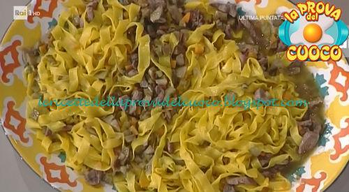 Tagliatelle con anatra e carciofi ricetta Spisni da Prova del Cuoco