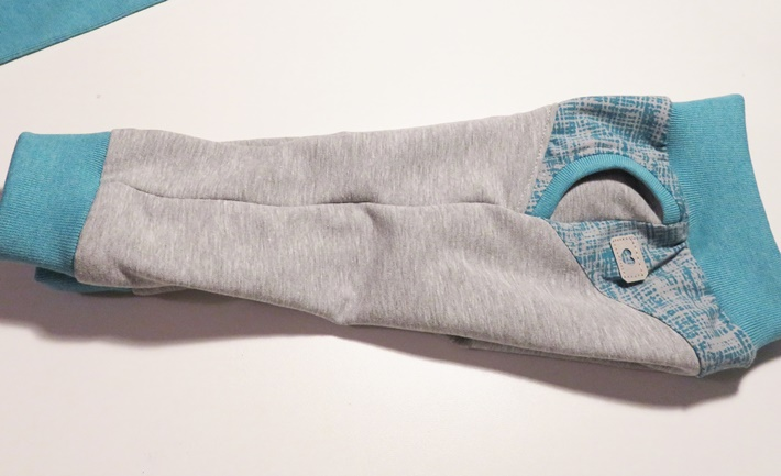 Babyhose grau-blau - Sweatshirt