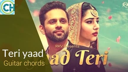 YAAD TERI Guitar Chords ACCURATE | Rahul Vaidya