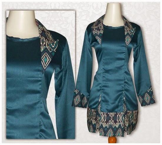 Model Batik Kerja Lengan Panjang Wanita: Model Baju Batik Wanita Lengan Panjang