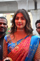 Puja Hegde looks stunning in Red saree at launch of Anutex shopping mall ~ Celebrities Galleries 104.JPG