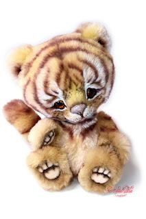 NatalKa Creations, Natalie Lachnitt, artist teddy bear, Künstlerteddy, tiger teddy, artist tiger, cat