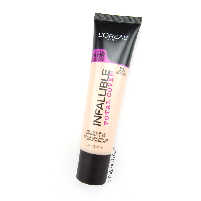 l'oreal infallible total cover 301 classic ivory - the beauty puff