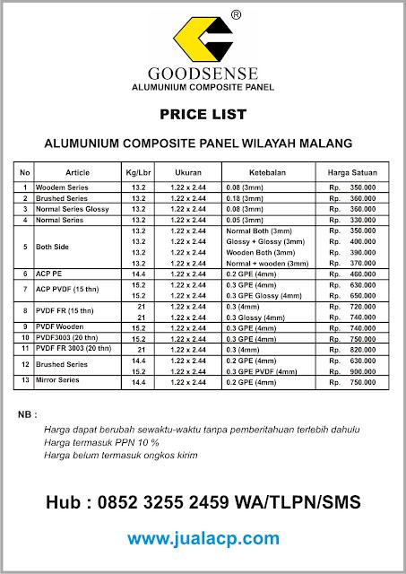 harga acp goodsense malang | harga acp murah malang