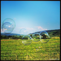 Bubbles over the field