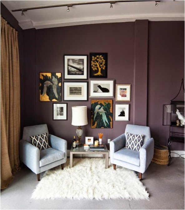 However Aubergine Eggplant Is A Very Modern Color And Works Well In Today S Stylish Interiors Here It Deeper Side Paired With Soft Teal Acrylic