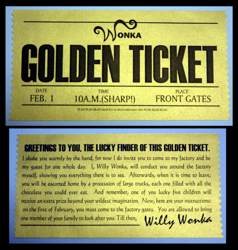 willy wonka golden ticket template download