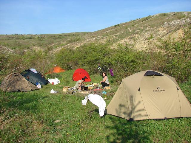 Наша стоянка в верховьях каньона Байсу