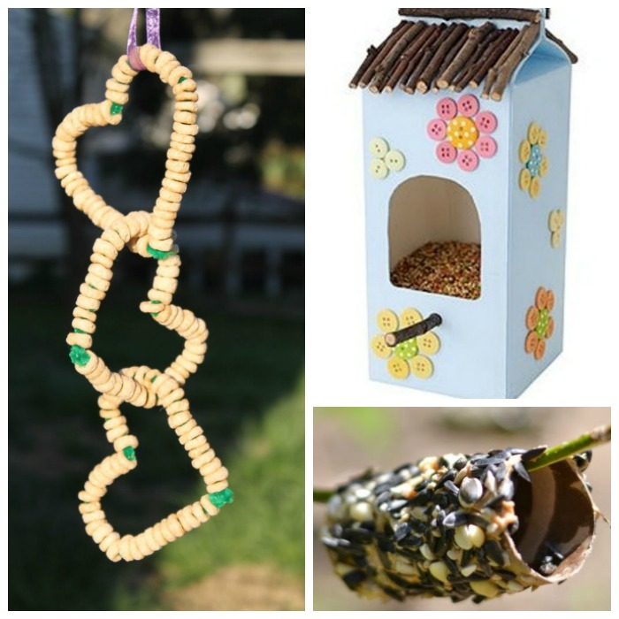 18 TOTALLY AWESOME bird feeder crafts for kids. These are SO COOL! I love the Lego bird feeder! #birdfeeders #craftsforkids #activitiesforkids #springcraftsforkids #birdfeedersdiy #birdfeedersforkidstomake #birdfeedershomemade #birdfeedersdiykids