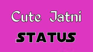 Cute jatni status in hindi photo