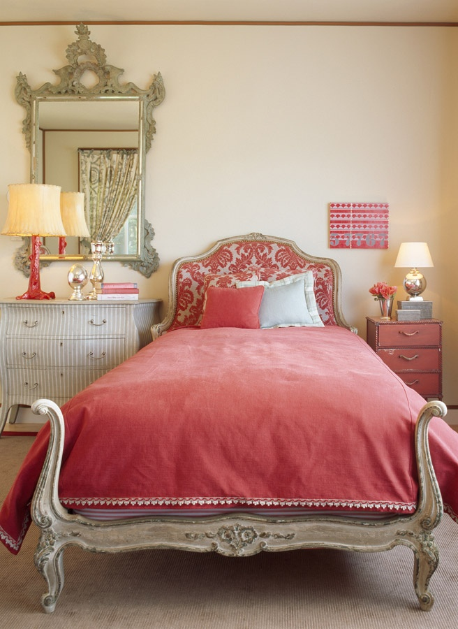 Favorable Coral Bedroom Decorating Ideas