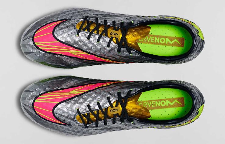 bda941b6385 The outsole of the new silver Nike Hypervenom Phantom Neymar 2014-2015  Football Shoes is volt