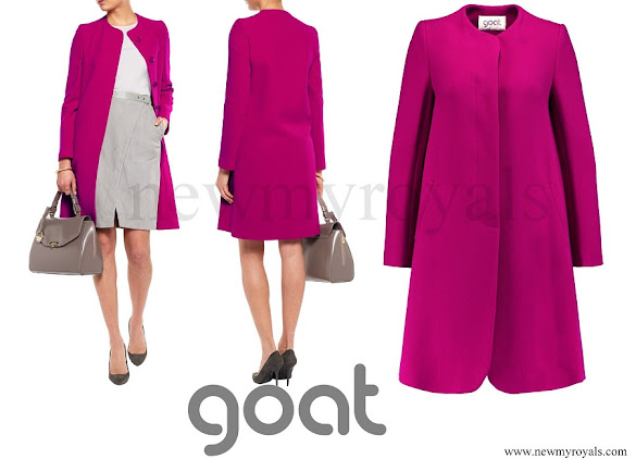 Crown Princess Mary wore Goat Fashion Wool Crepe Coat