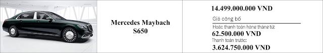 Giá xe Mercedes Maybach S650 2019 tại Mercedes Trường Chinh