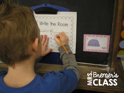 Winter Literacy Work Stations for Kindergarten