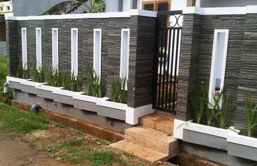 40 Model Pagar  Tembok Minimalis Rumah  Asia