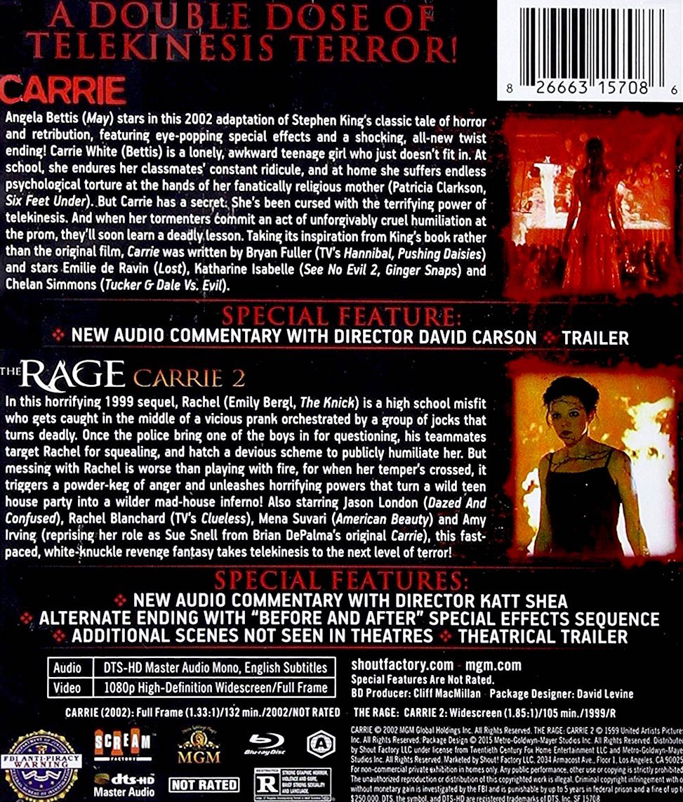 Blu-Ray And Dvd Covers Scream Factory Double Feature Blu -7023