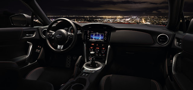 Interior view of 2017 Subaru BRZ Limited