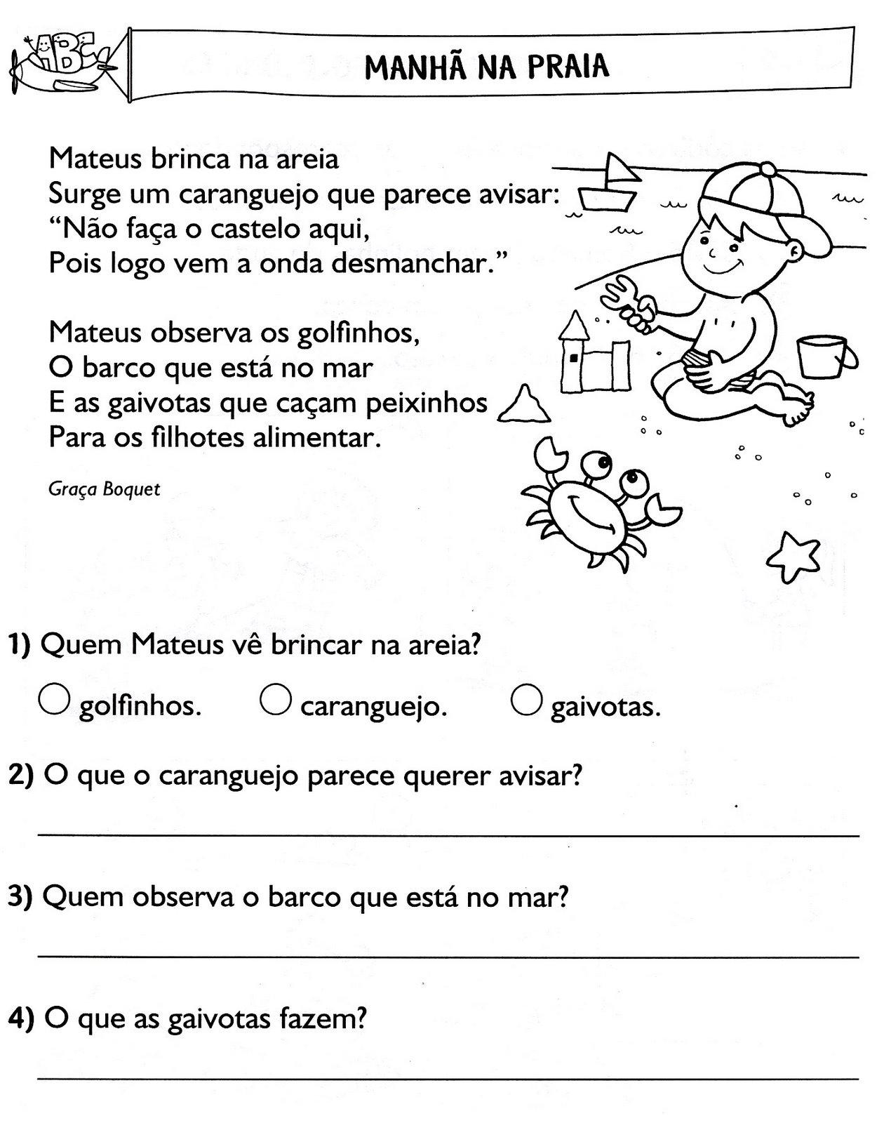 Muitas vezes Escola Saber: Interpretação de texto ensino fundamental OW72