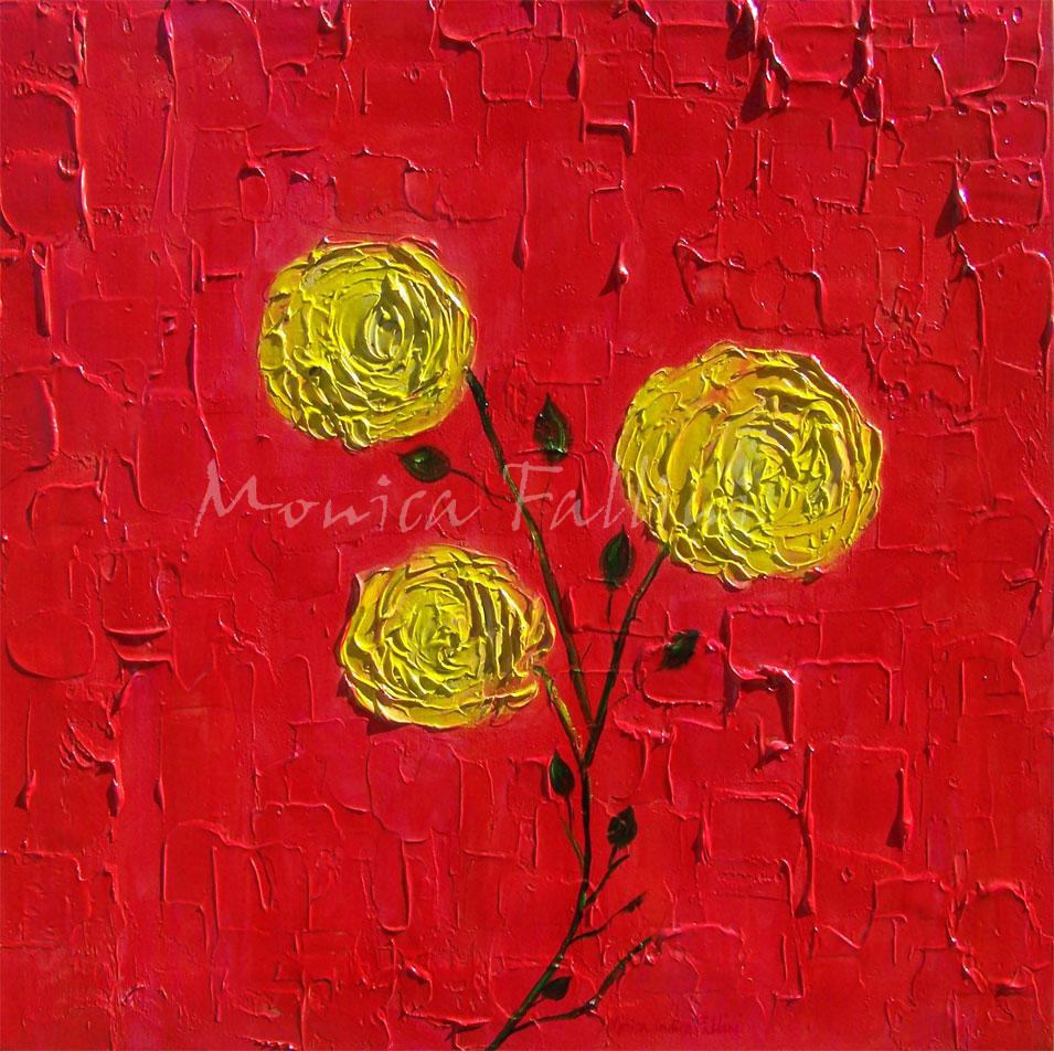 Paintings by Monica Fallini: Zen art, abstract art, roses ...