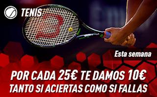 sportium Promo Tenis: Por cada 25€ ¡Te damos 10€! 12-18 noviembre