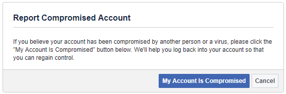 Report Hacked Facebook Account