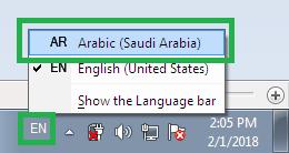 Install Font Arab dan Setting Bahasa Arab di Windows 7