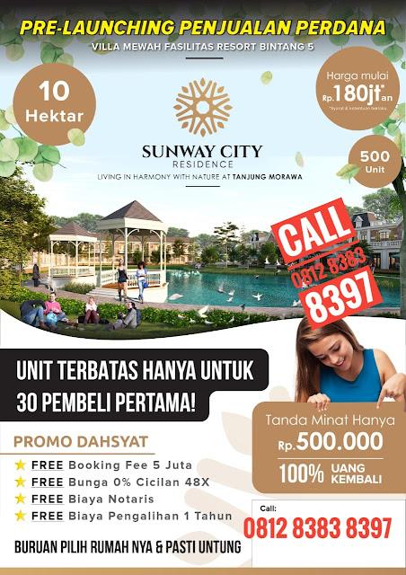 Promo Di Sunway City Residence Tanjung Morawa Medan Sumatera Utara Uang Tanda Minat Hanya 500 Ribu