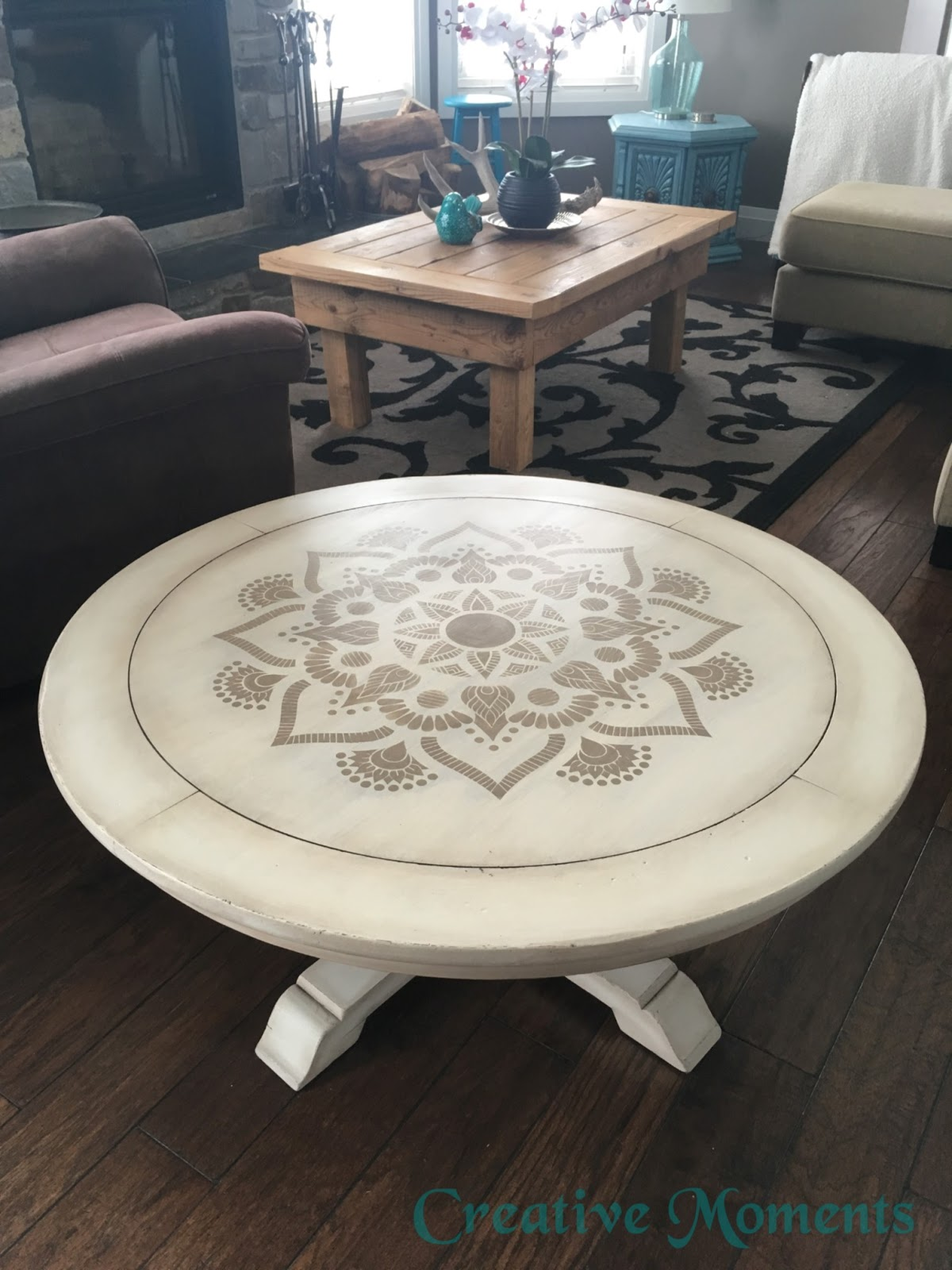 Superbe See How I Used Paint Along With A Pretty Stencil And Dark Waxes To Relove  This Solid Wood Coffee Table.
