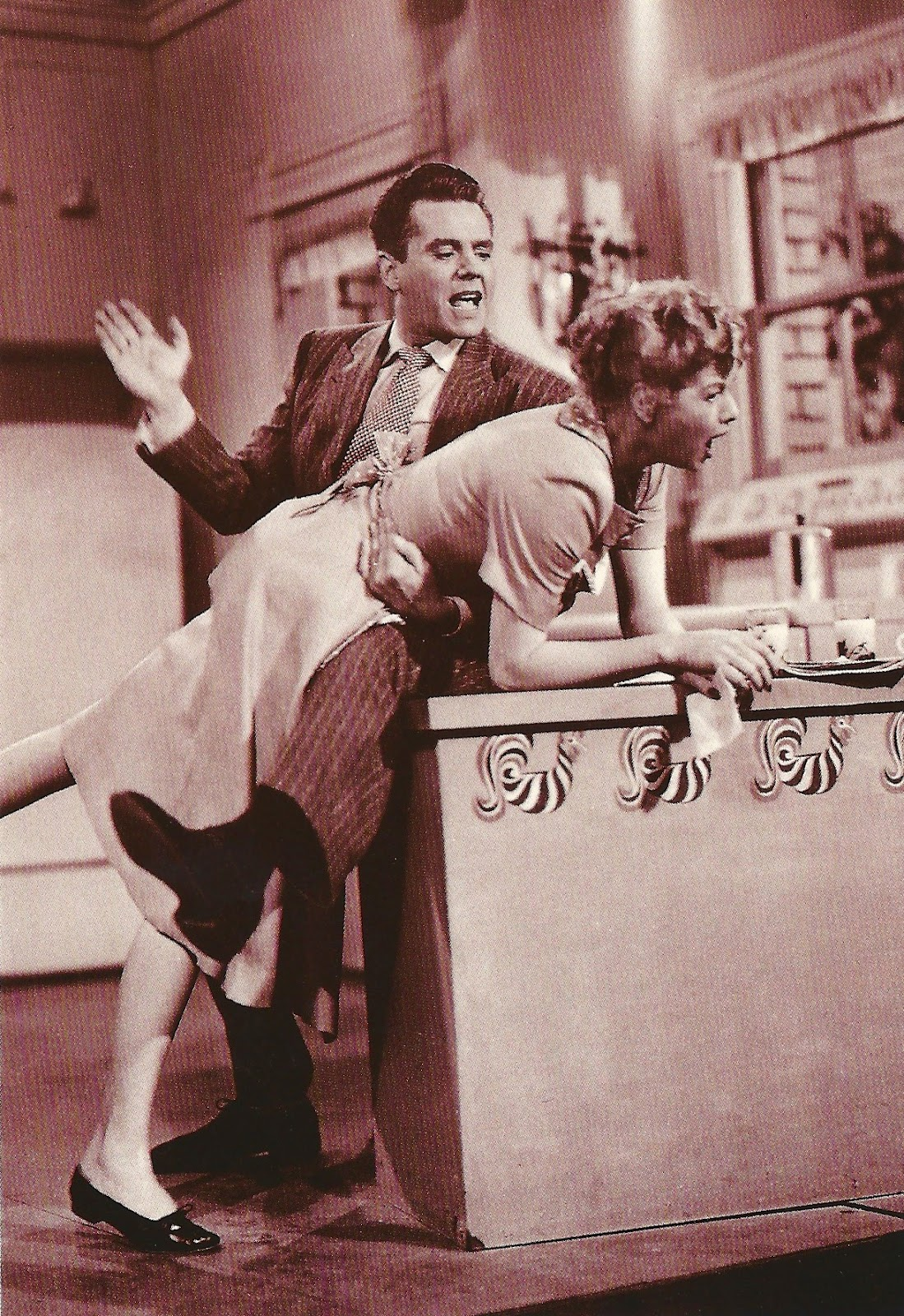 Lucy And Desi Arnaz My Favorite Movies And Stars I Love Lucy Getting Spanked