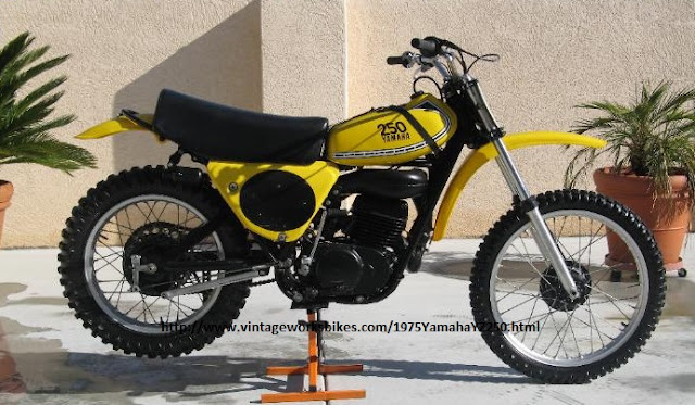 1975 Yamaha Yz250  The First Use Monoshock Suspension And Valve Reed On Dirt Bike