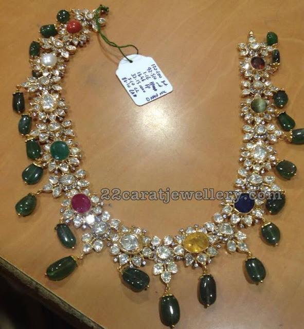 Pachi Necklace with Navaratan Stones