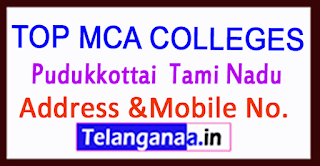 Top MCA Colleges in Pudukkottai  Tami Nadu