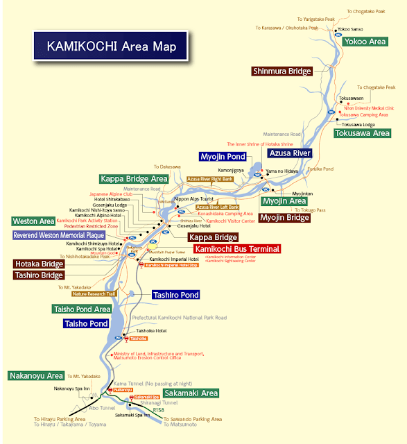 map of Kamikochi
