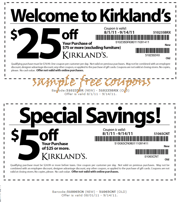 Kirkland promo codes : August 2018 Store Deals