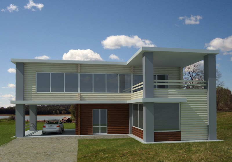 Modern homes designs concepts front views beautiful for Concept home builders