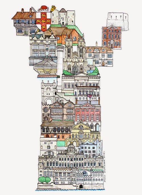25-Y-York-UK-Hugo-Yoshikawa-Illustrated-Architectural-Alphabet-City-Typography-www-designstack-co