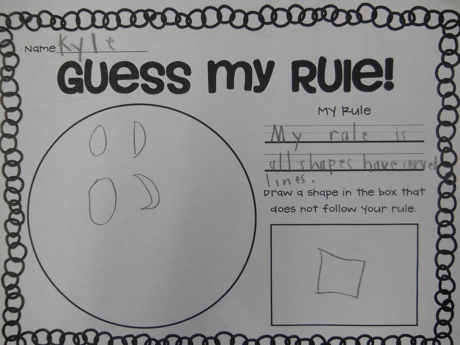 Mrs T S First Grade Class Guess My Rule