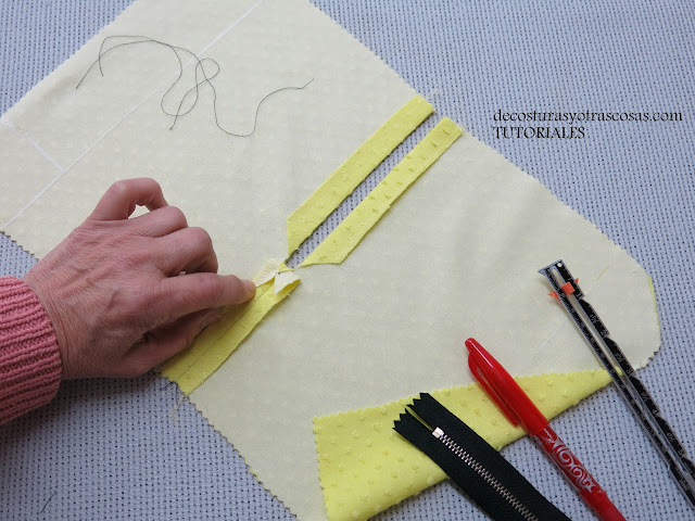 como coser una cremallera metálica y lucirla